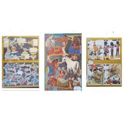 LOT 14 - Poetry sheets Chromos Scraps - Geschiedenis,religie, romant. 450st