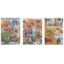 LOT 18 - Poetry sheets Chromos Scraps - Dogs (500 pcs)
