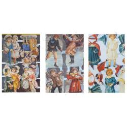 LOT 19 - Poetry sheets Chromos Scraps - Childhood romantic (650 pcs)