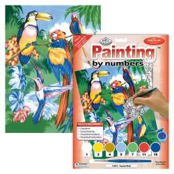 Paint by No. Junior 22,5cm x 30cm Tropical birds