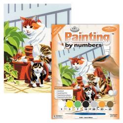 Schild.op nummers Junior 22,5x30cm kat en kittens