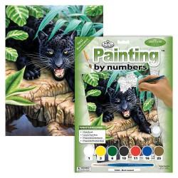 Paint by No. Junior 22,5cm x 30cm Black leopard