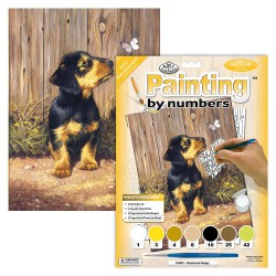 Paint by No. Junior 22,5cm x 30cm Dachshund puppy