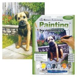 Paint by No. Junior 22,5cm x 30cm Garden puppy