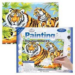 Paint by No. Junior 27,5cm x 35cm Tiger & Cubs
