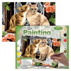 Paint by No. Junior 27,5cm x 35cm Kissing kittens