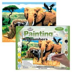 Paint by No. Junior 27,5cm x 35cm African animals