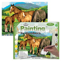 Paint by No. Junior 27,5cm x 35cm Horses & Foals
