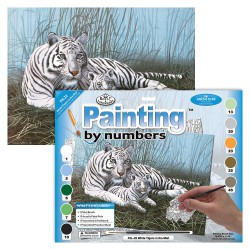 Paint by No. Junior 27,5cm x 35cm White tigers in the mist