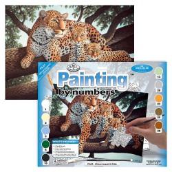 Paint by No. Junior 27,5cm x 35cm African leopard & Cubs