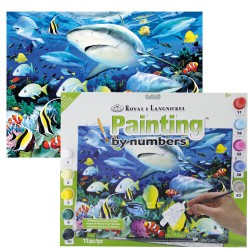 Paint by No. Junior 27,5cm x 35cm Reef sharks