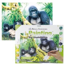 Paint by No. Junior 27,5cm x 35cm Mountain gorillas
