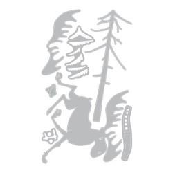 Thinlits 7 pcs set Tim Holtz, Merry MooseDie cut size 8.26x7.30-3.81x