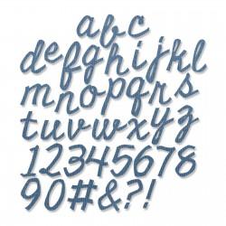Sizzix Thinlits Die Set 74PK - Cutout Script (3/4 Tall)