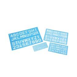 Lettersjabloon 30mm cijfers + letters