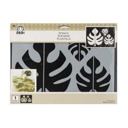 Stencil  29,8cm x 21cm - Tropical Leaf Motif