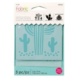 Adhesive Stencil mini 7,6cm x 7,6cm - Cactus (3 pcs)
