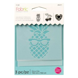 Adhesive Stencil mini 7,6cm x 7,6cm - Pineapple (3 pcs)