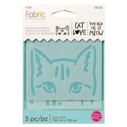 Adhesive Stencil  mini 7,6cm x 7,6cm - Cat (3 pcs)