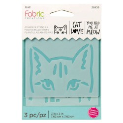 Adhesive Stencil  mini 7,6cm x 7,6cm - Cat (3 pcs)
