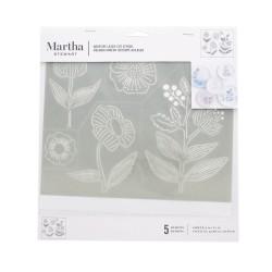 Adhesive Stencil 23cm x 20cm - Line Art Floral