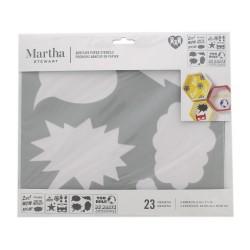Adhesive paper stencil 23cm x 20cm - Comic
