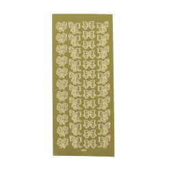 Sticker gold - Bow ties