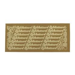 Sticker gold NL - Gefeliciteerd