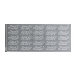 Sticker silver NL - Voor moeder (10 pcs)