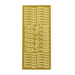 Sticker gold FR - Joyeux Noël