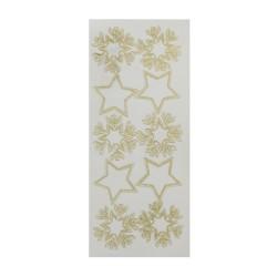 Sticker gold/transp - Stars
