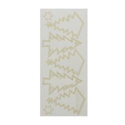 Sticker gold/transp - Christmas tree