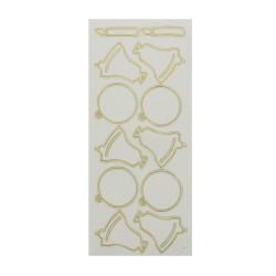 Sticker gold/transp - Christmas ornaments