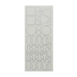 Sticker silver/transp. - Figures