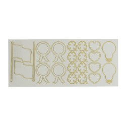 Sticker gold/transp - Divers