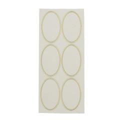Sticker gold/transp - Oval