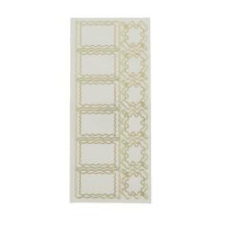 Sticker gold/transp - Waves