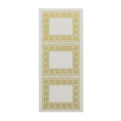 Sticker gold/transp - Frame big