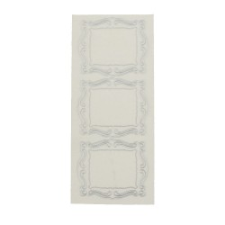 Sticker silver/transp. - Large frame