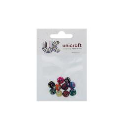 Pearls fancy round 10mm - Assort. colors (10 pcs)
