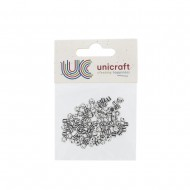 Assort. 4 Styles small spacers - Silver (80 pcs)