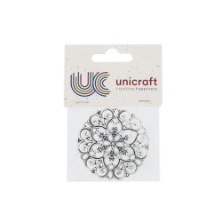 1 Charm filigree 60mm silver - Large round