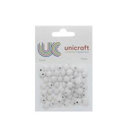 Wooden bead 10mm - White (50 pcs)