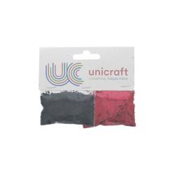 Glitter black/red (2 pcs)