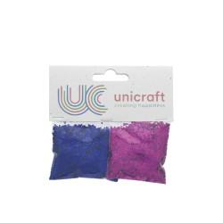 Glitter blue/pink (2 pcs)