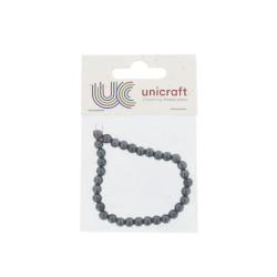 Hematite bead on string 6mm (33 pcs)