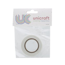 Unicraft Foam double sided Tape 2m x 12mm x 0,5mm - White