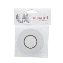 Unicraft double sided Foam Tape 2m x 12mm x 2mm - White