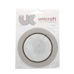 Unicraft Double sided Tape 20m x 6mm - White