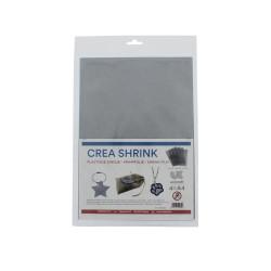 Crea Shrink A4 sanded - Silver (4 sheets)